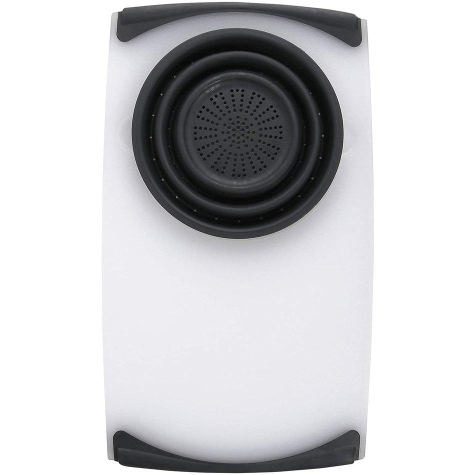 "Dexas Dexas OverSink Cutting Board White/Gray, 12.5""x22.75"""
