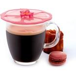 Charles Viancin Charles Viancin Pink Hibiscus Drink Covers, set of 2