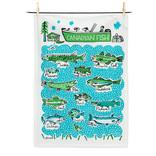 Abbott Canadian Fish Tea Towel