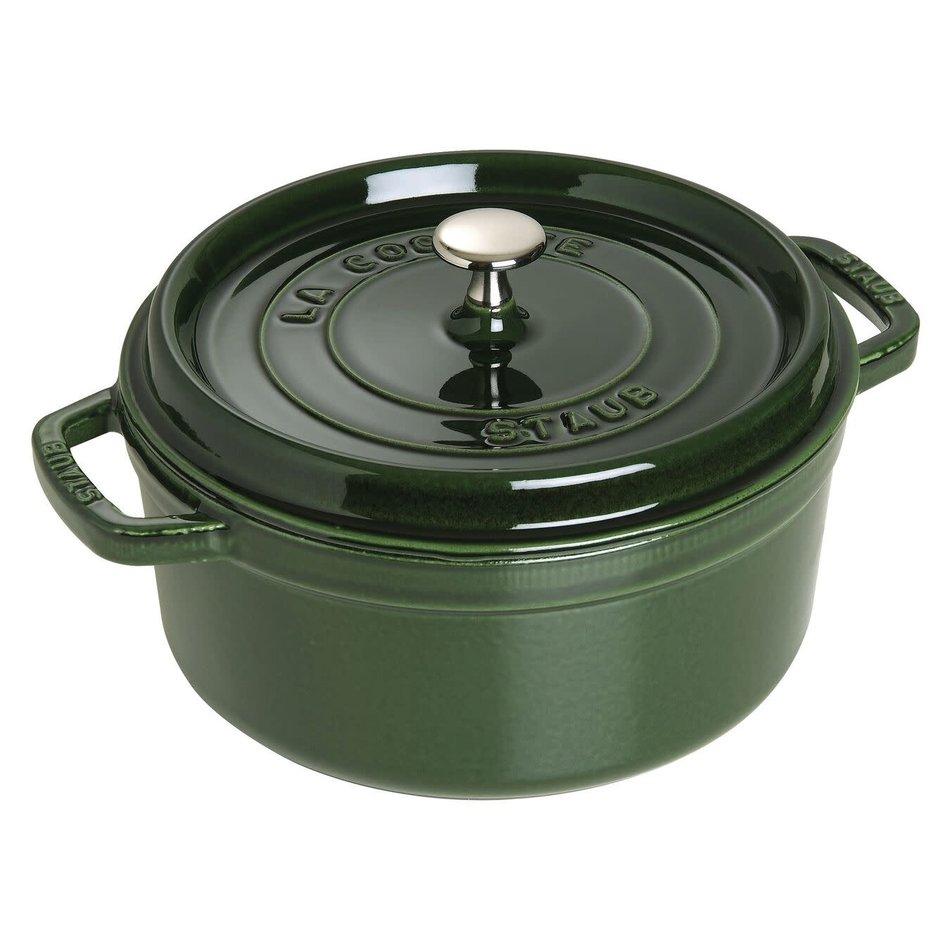Staub Staub Round Cocotte, 5.2L Basil Green