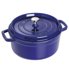 Staub Staub Round Cocotte, 5.2L Blue