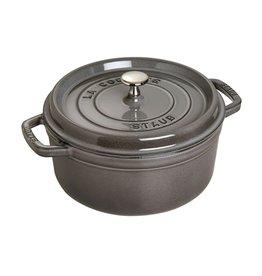 Staub Staub Round Cocotte, 5.2L Grey