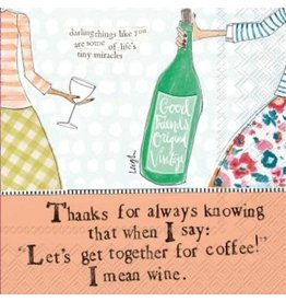 Curly Girl Cocktail Napkins, Coffee and Wine