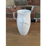 Mena Dragonfly Mini Vase, White
