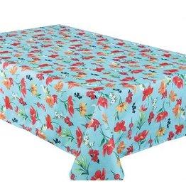 """Botanic Tablecloth, 58""""x78"""", Aqua"""