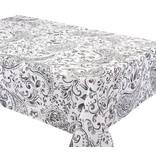 "Gentil Tablecloth, 58""x126"", Black"