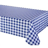 """Percalle (Gingham) Tablecloth, 58""""x78"""", Blue"""