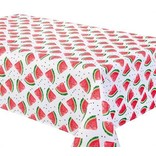 "Watermelon Tablecloth, 58""x78"", White"