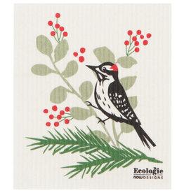 Now Designs Swedish Dishcloth, Forest Birds Woodpecker