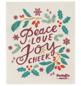 Now Designs Swedish Dishcloth, Peace & Joy