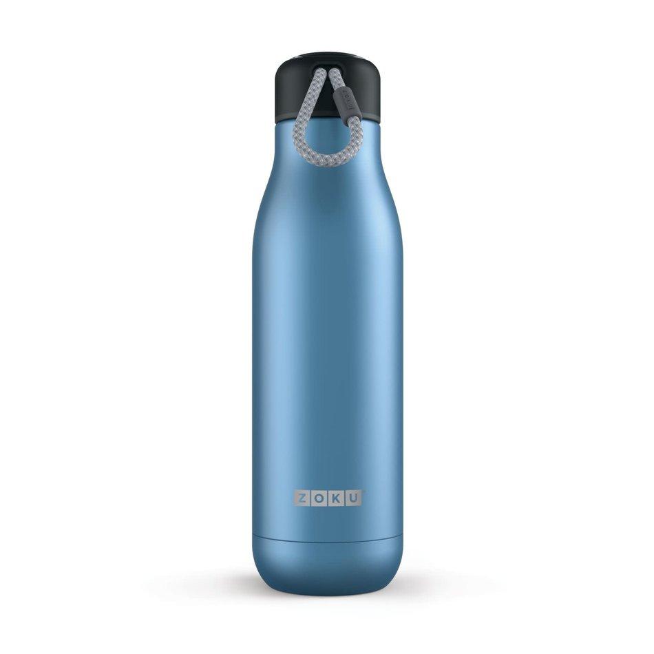 ZOKU Zoku Water Bottle, 25oz Metallic Blue