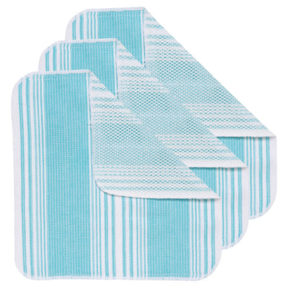 Now Designs Scrub-it Dishcloth, Bali Blue, set of 3