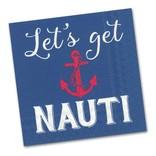 Quips Cocktail Napkin, Let's Get Nauti