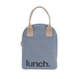 Fluf Fluf Zip Lunch Bag, Blue