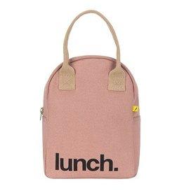Fluf Fluf Zip Lunch Bag, Mauve