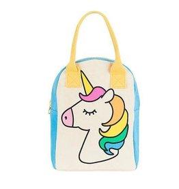 Fluf Fluf Zip Lunch Bag, Unicorn