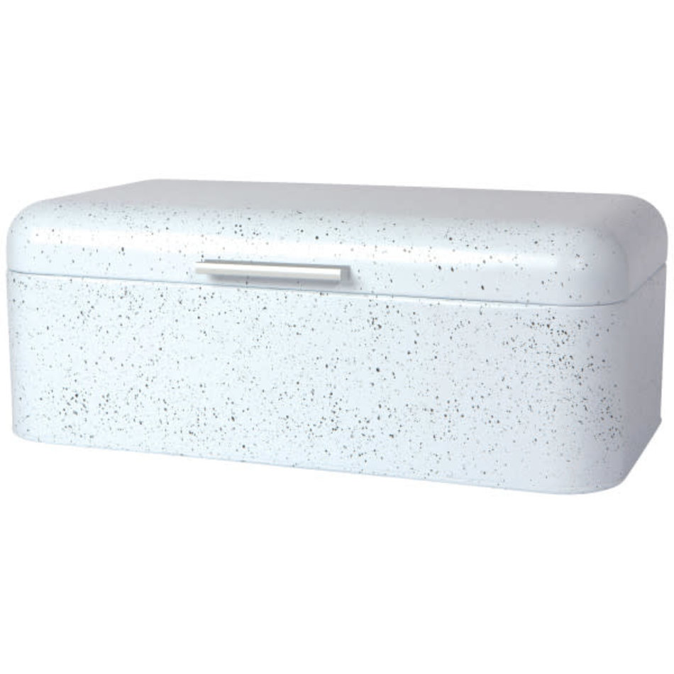 Bread Bin, Large, White with Speckles