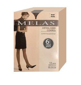 Melas Melas Women's Crystal Sheer Control Top 6 Pack 12 Denier AS-6096