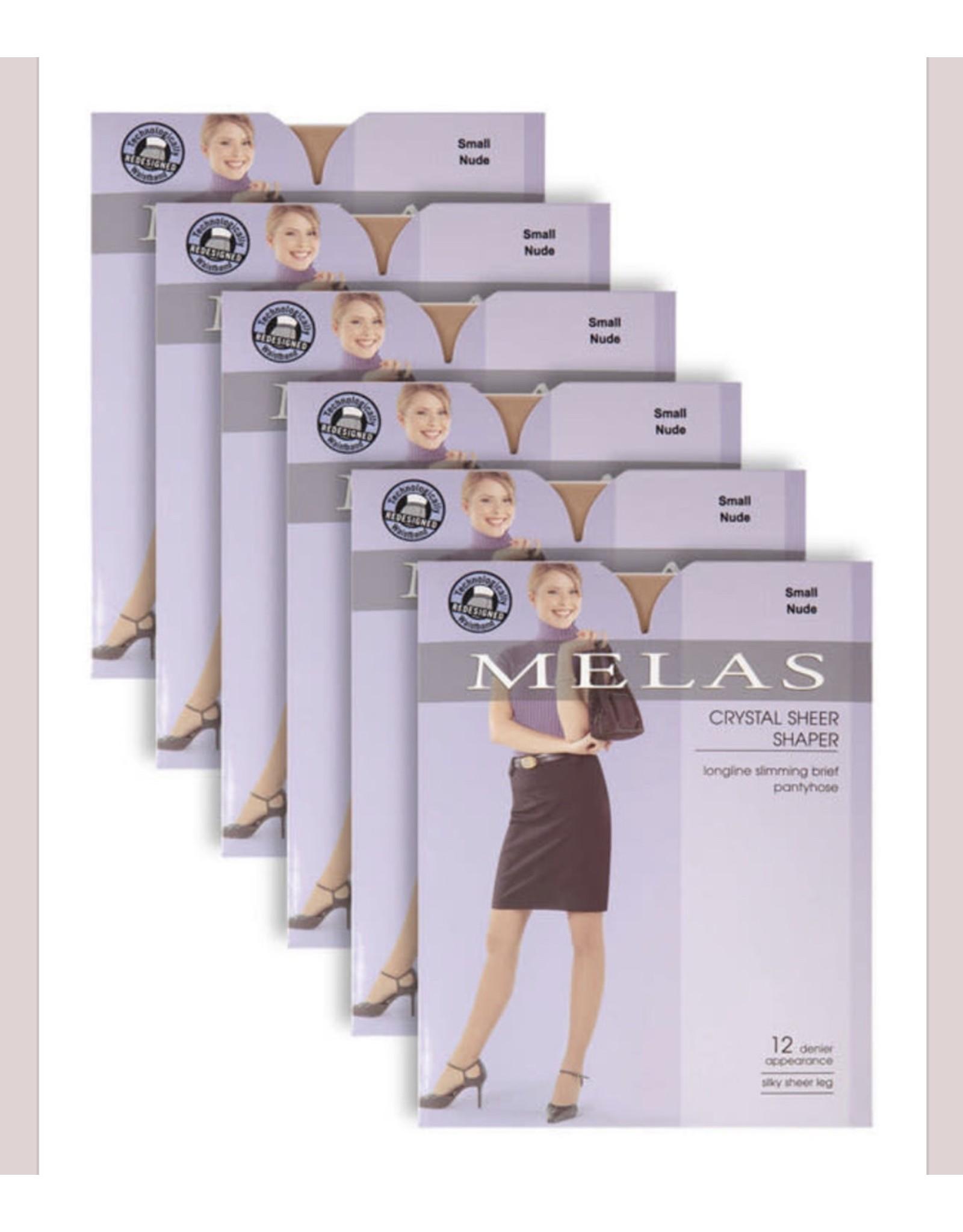 Melas Melas Women's Crystal Sheer Shaper 6 Pack AS-6116