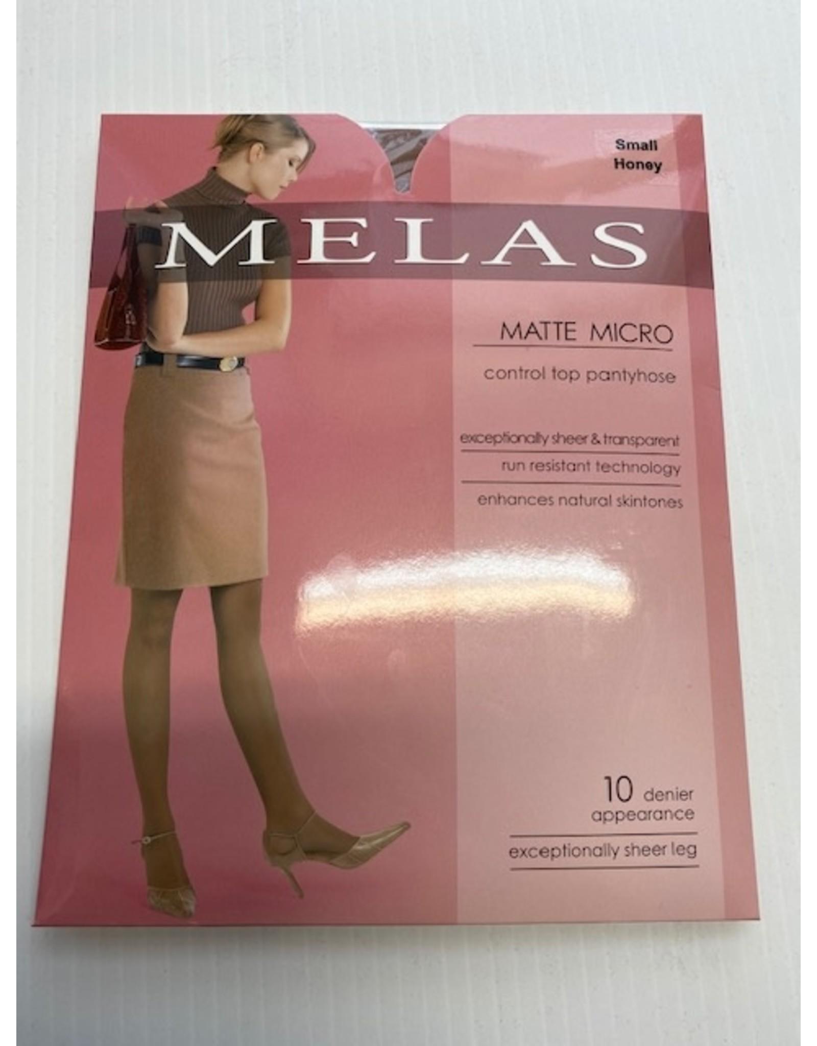 Melas Melas Women's Matte Micro Control Top 10 Denier AS-617