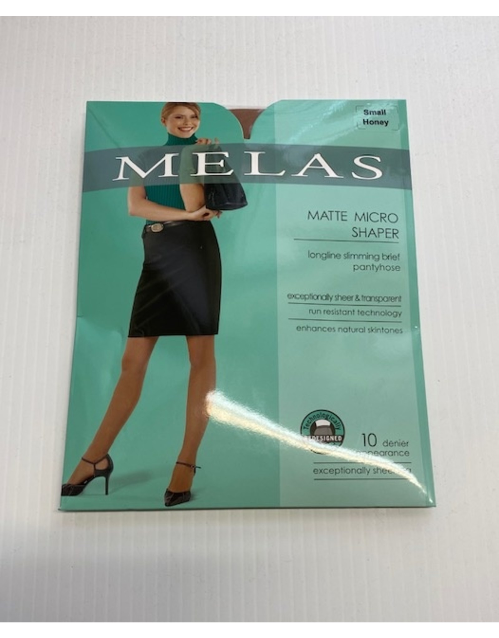 Melas MelasWomen's Matte Micro Shaper 10 Denier AS-619