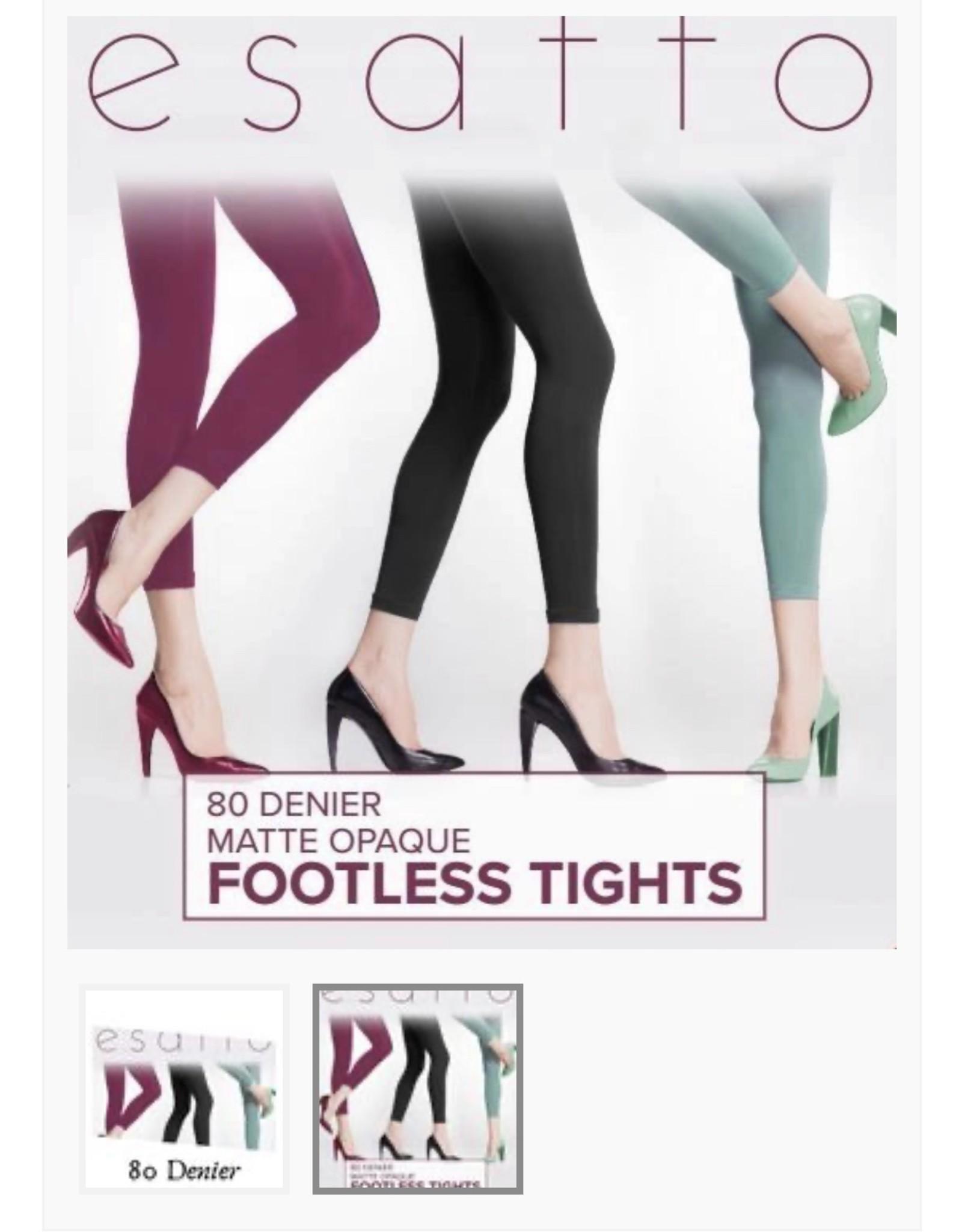Esatto Esatto Women's 80 Denier Control Top Footless Tights