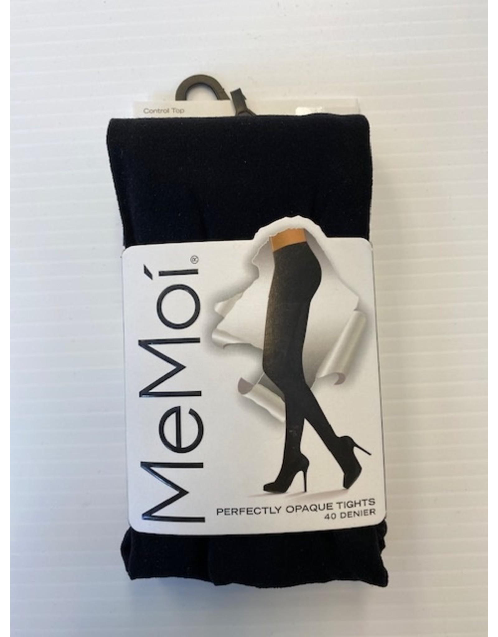 Memoi Memoi Women's Perfectly Opaque Control Top 40 Denier Tights MO-312