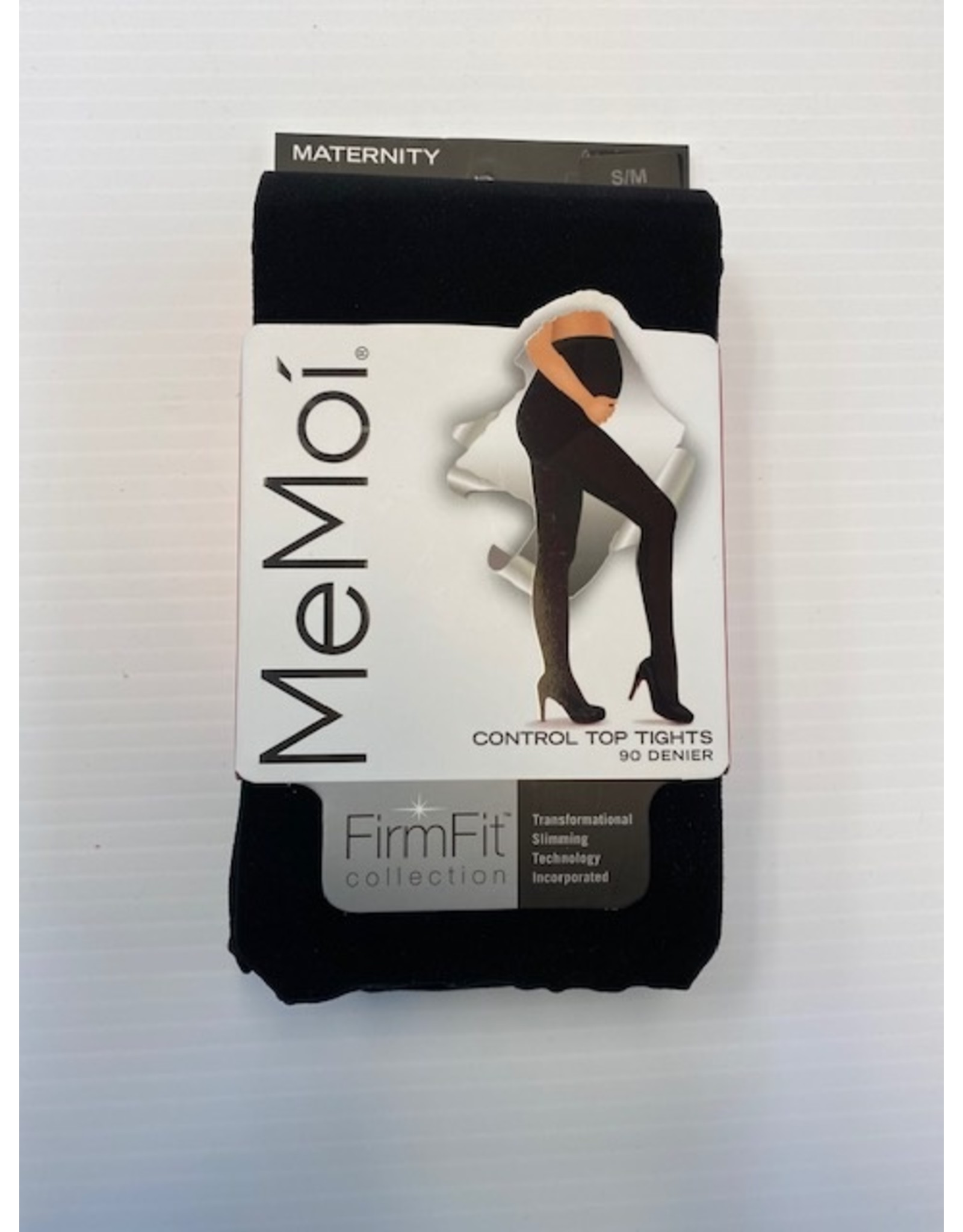 Memoi Memoi Women's Maternity FirmFit 90 Denier Control Top with Under Belly Band Support Tights MA-892