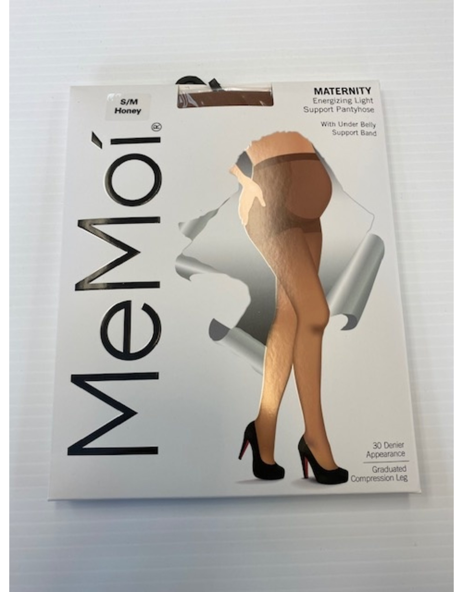 Memoi Memoi Womens Maternity Energizing Light Support Pantyhose with Under Belly Support Band 30 Denier MA-403