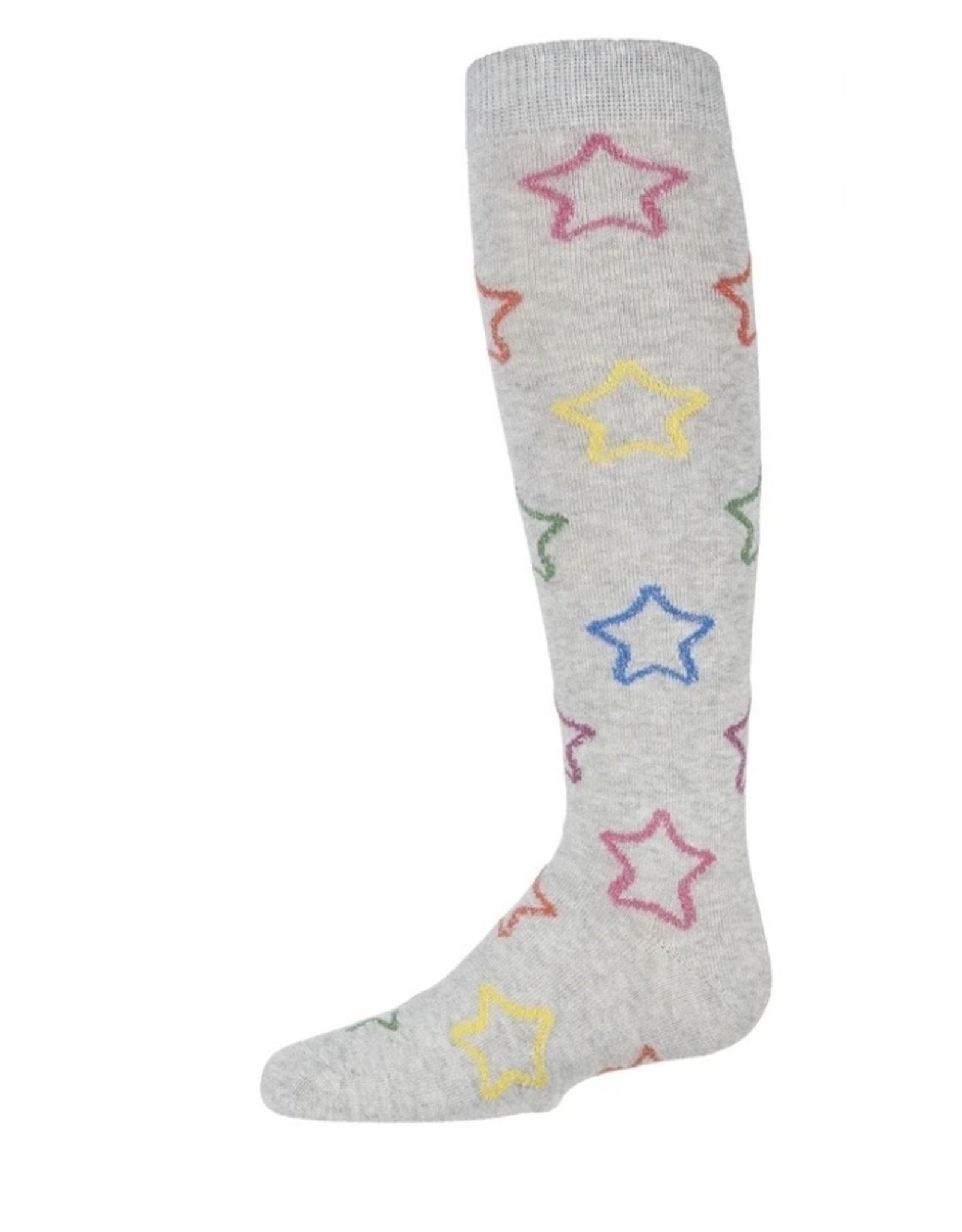 Memoi Memoi Girls Multi Lurex Star Knee Sock