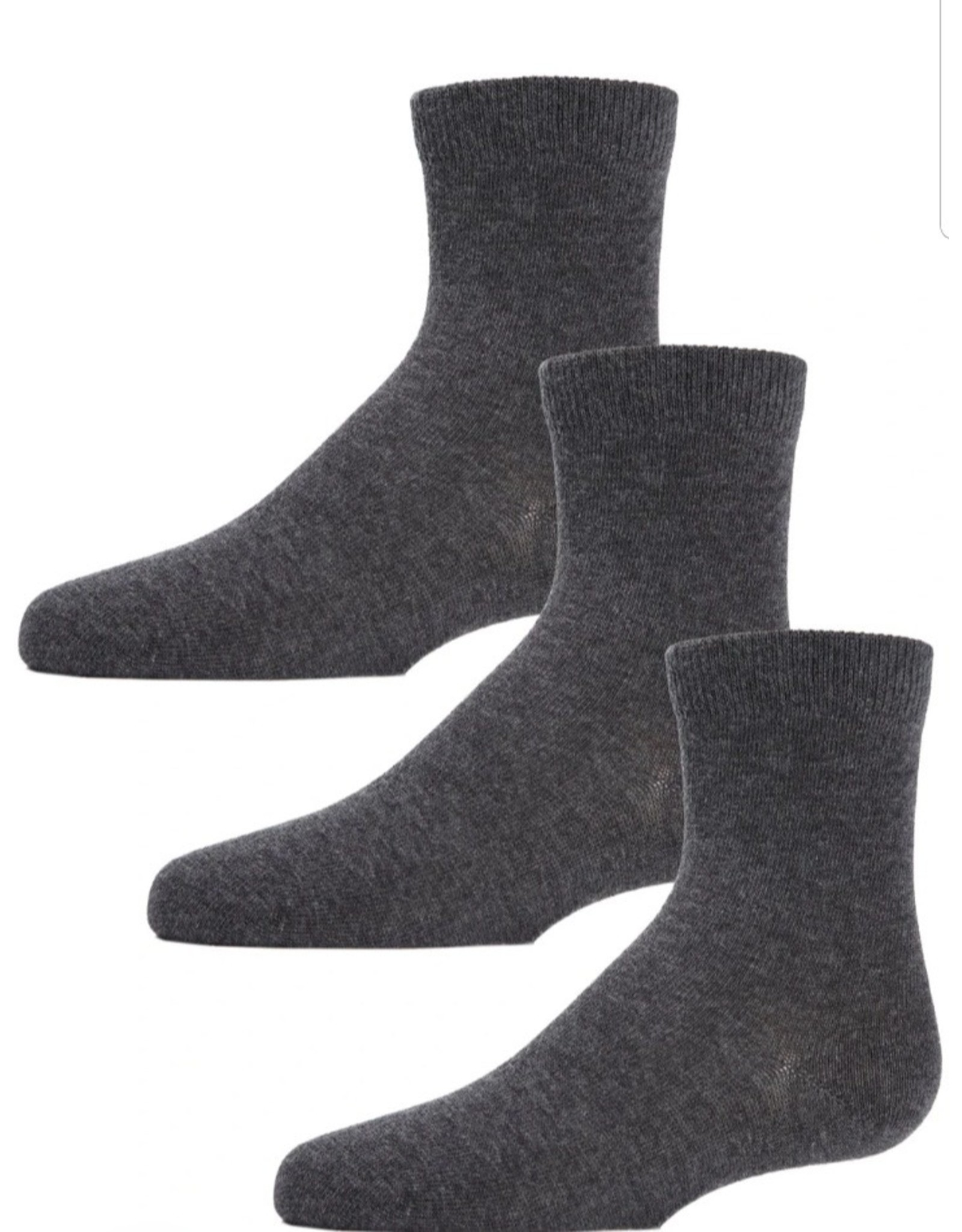 Memoi Memoi Kids Mid Cut Socks 3 Pair Pack MK-556