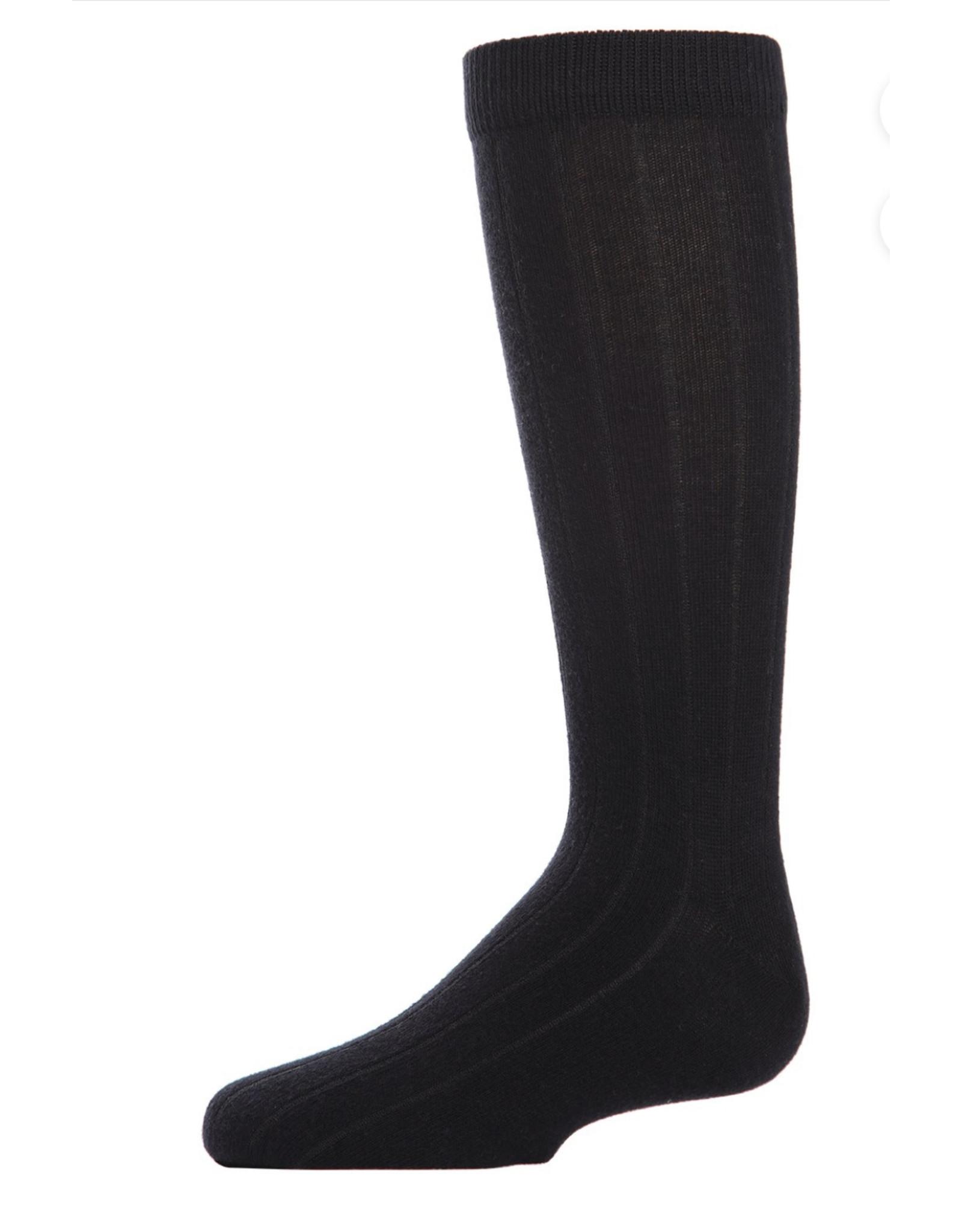Memoi Memoi Ribbed 3- Pack Bamboo Blend Crew Socks