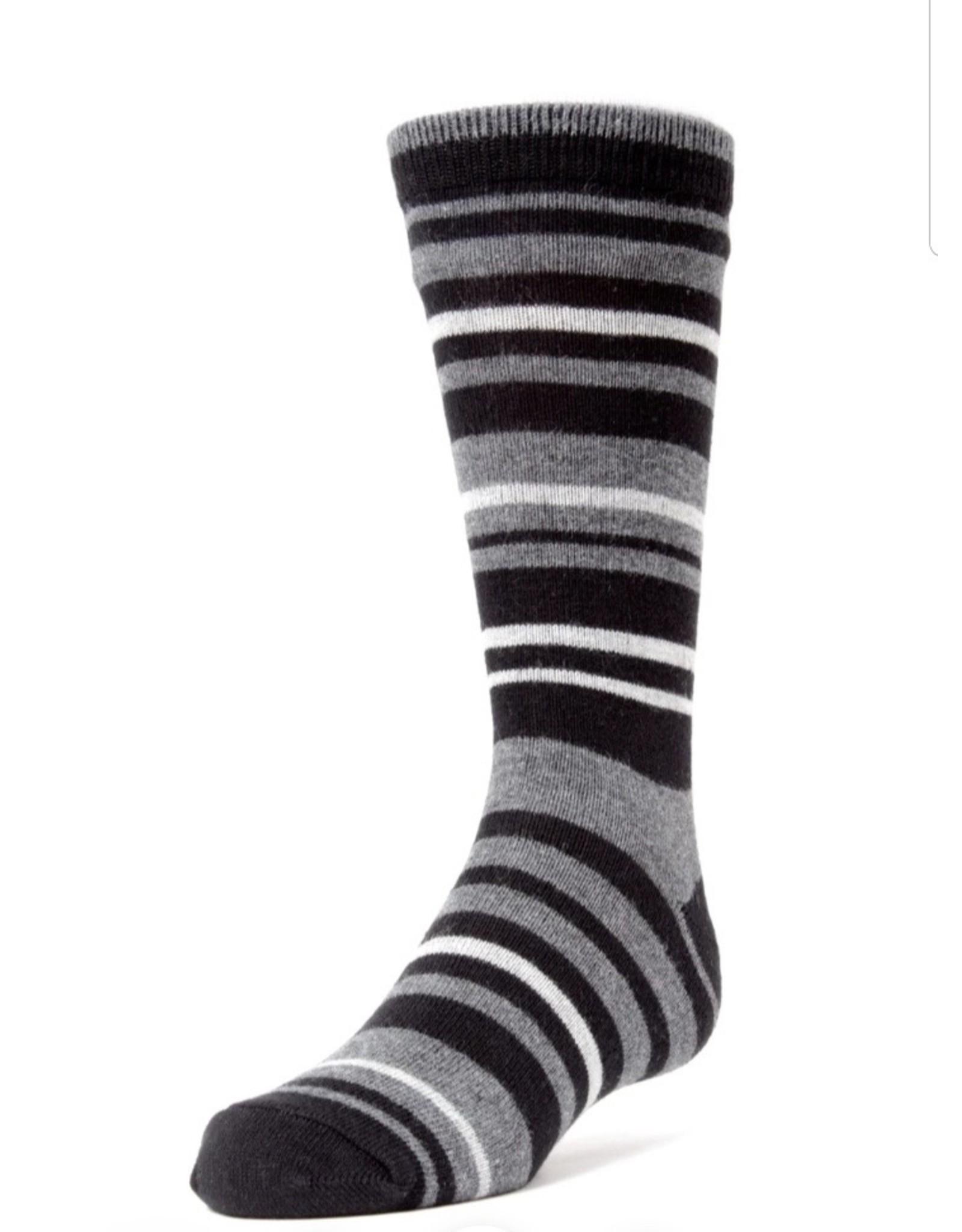 Memoi Memoi Boys Multi Stripe Dress Socks Mk-133