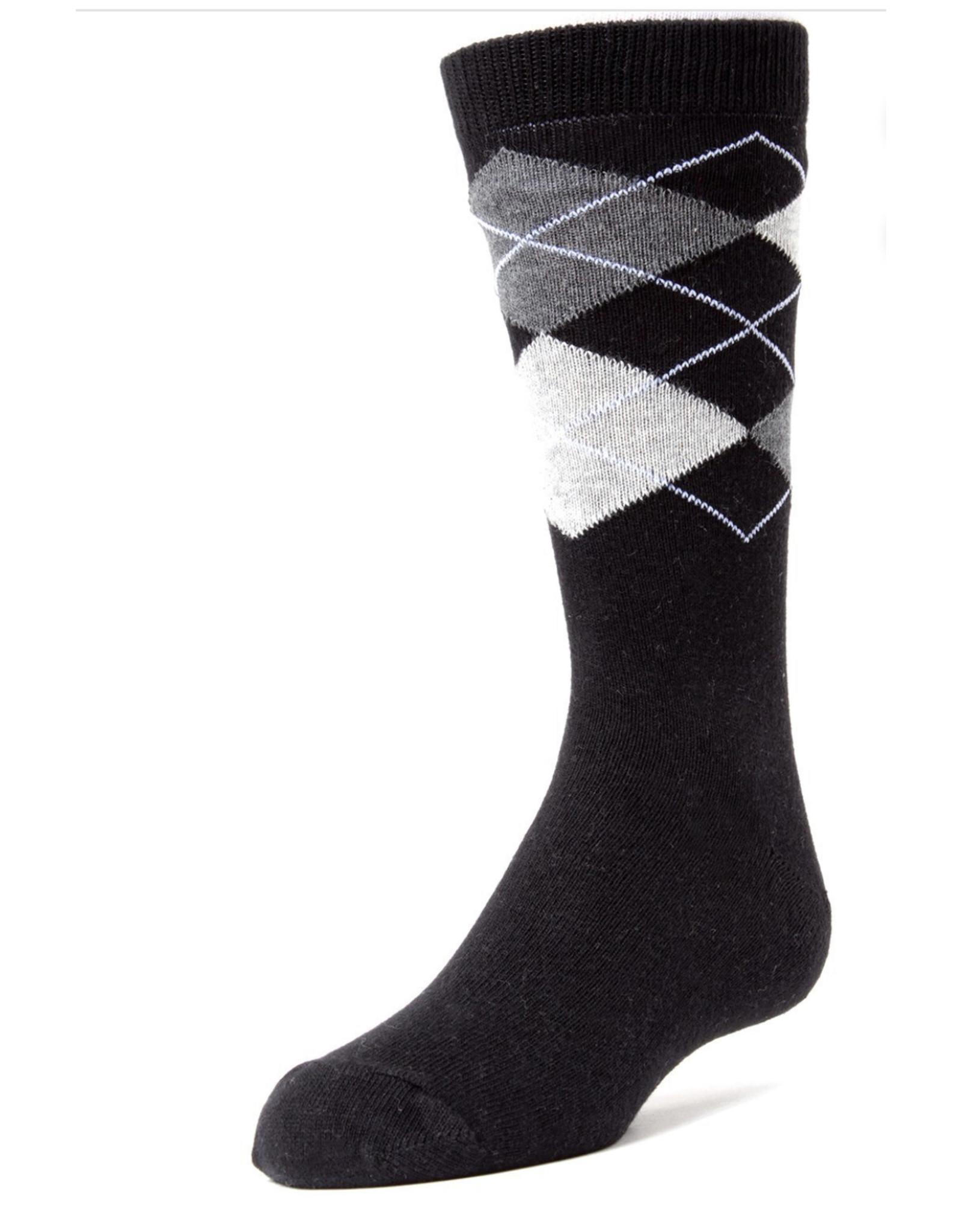 Memoi Memoi Boys Argyle Dress Socks Mk-132