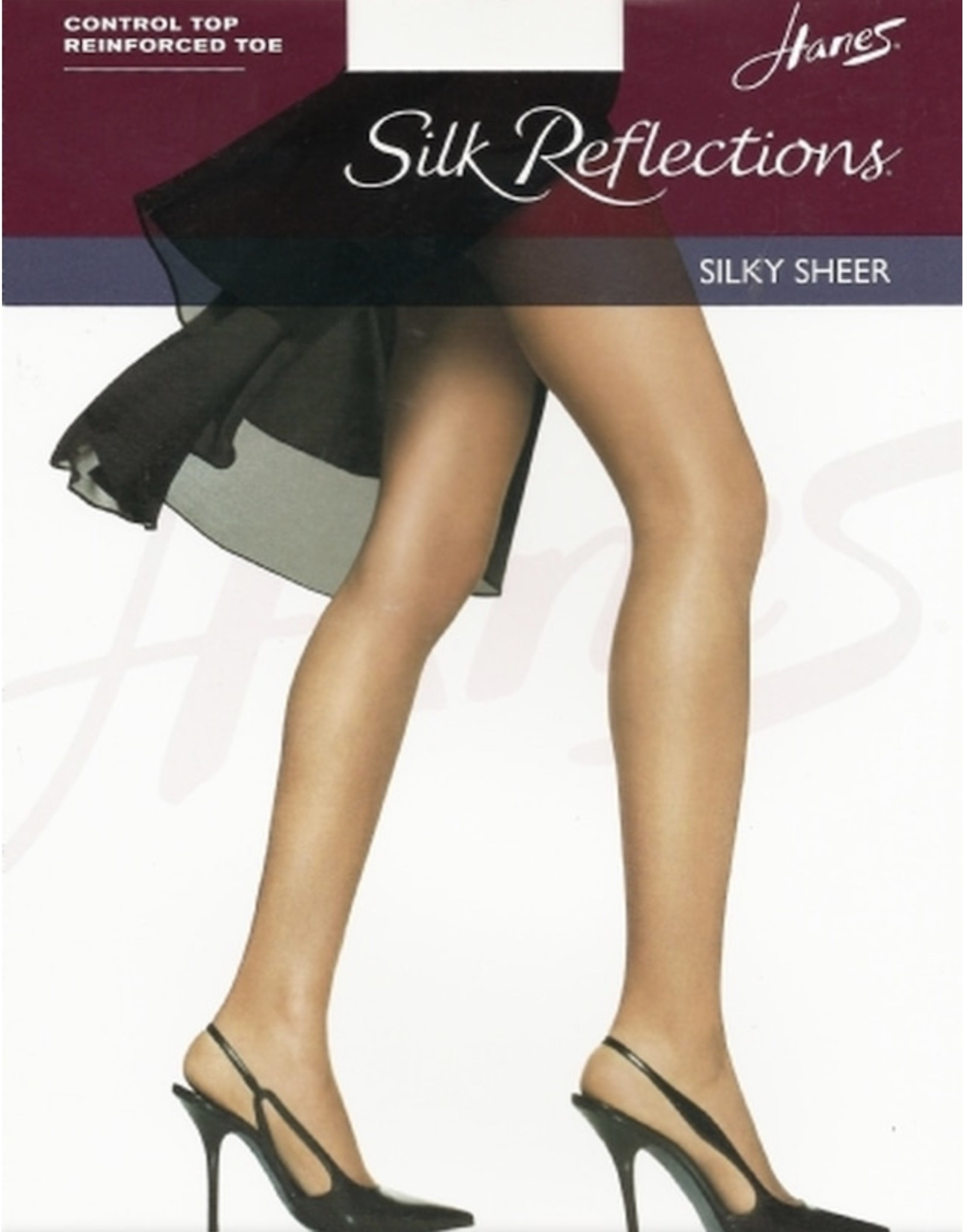 Hanes Hanes Women's Silky Sheer Control Top Reinforced Toe Pantyhose 718