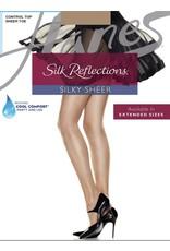 Hanes Hanes Women's Silky Sheer Control Top Sheer Toe Pantyhose 717