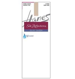 Hanes Hanes Women's Silky Sheer, Sheer Toe Knee High 2 Pair Pack 725