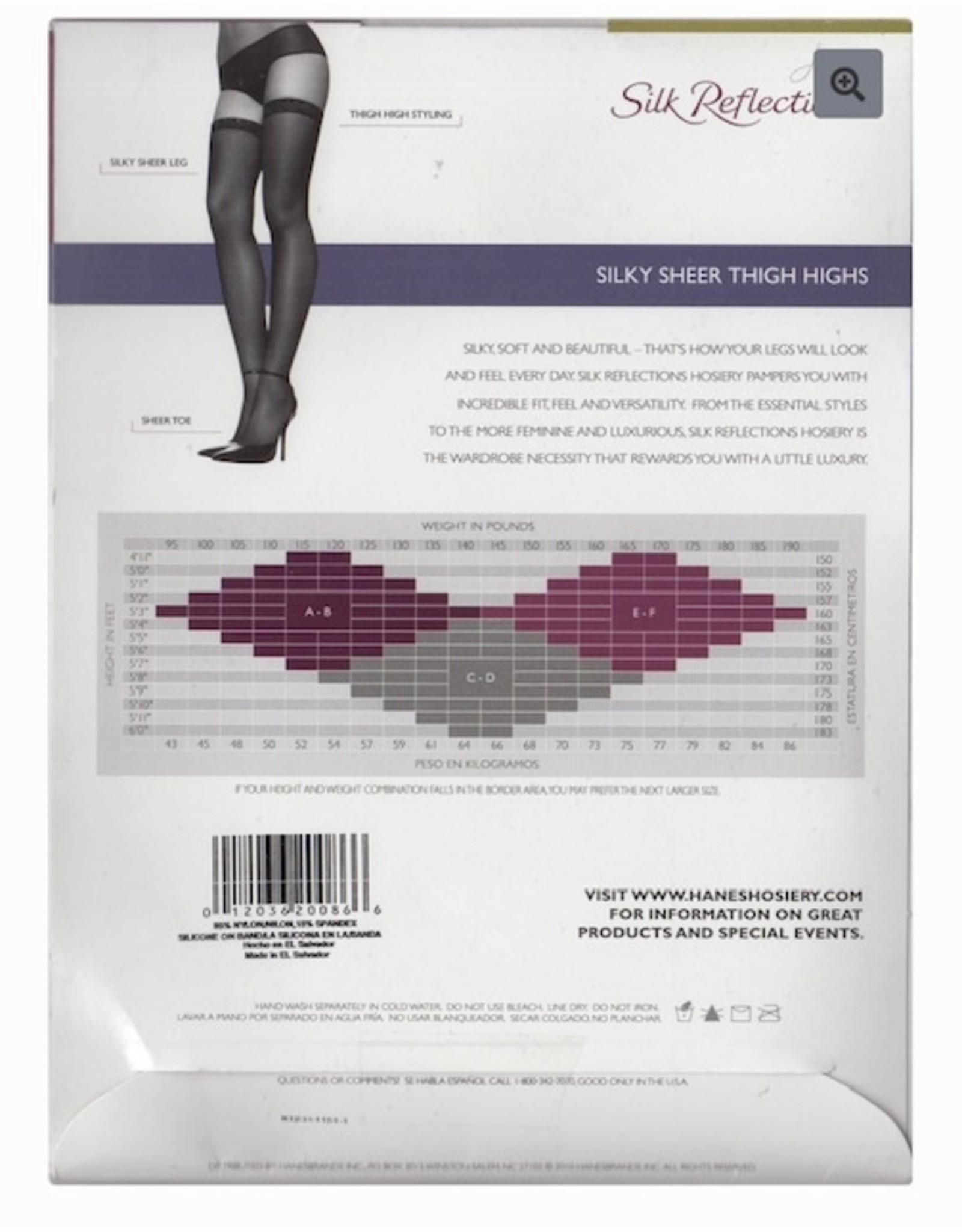 Hanes Hanes Women's Silky Sheer Sandalfoot Thigh Highs 720