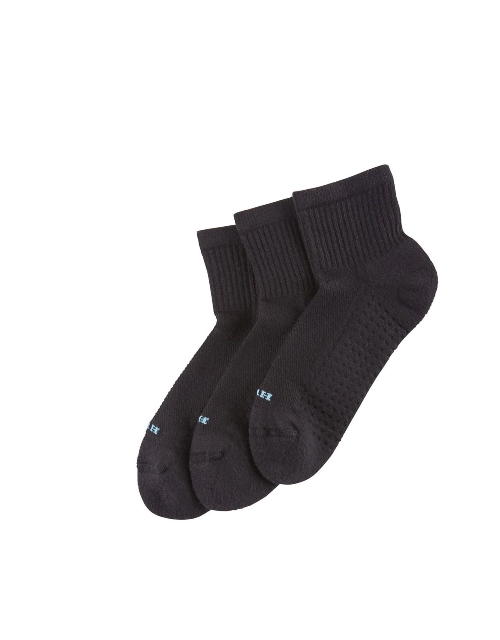Hue Hue Air Cushion Quarter Socks 3-Pack U12802