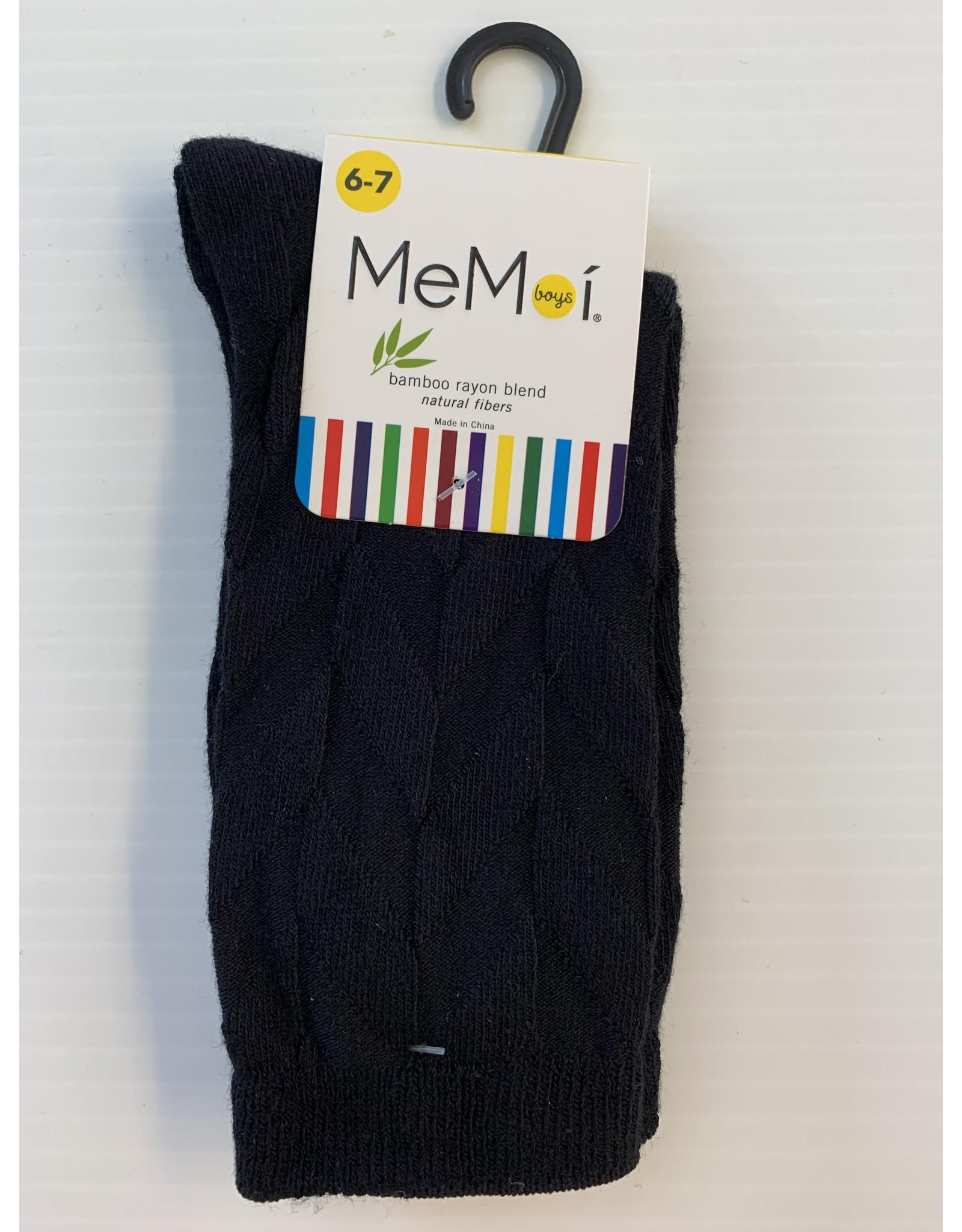 Memoi Memoi Boys Bamboo Diamond Dress Socks MK-182