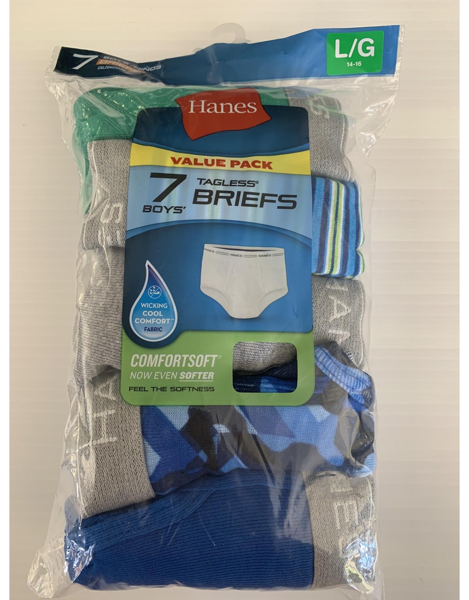 Hanes Hanes Boy's Tagless Cotton Briefs