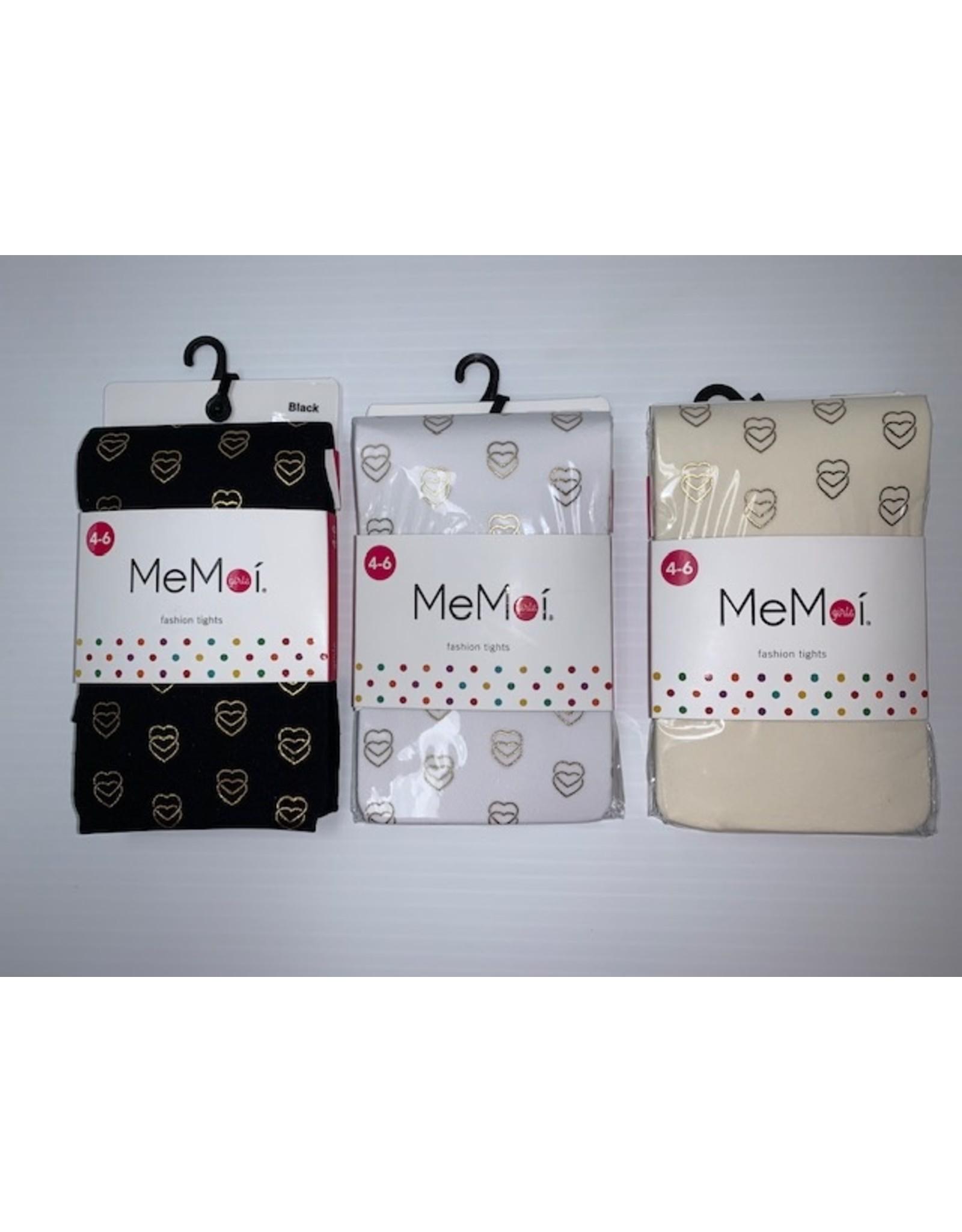 Memoi Memoi Girls 3D Heart Printed Fashion Tights MKF-4021
