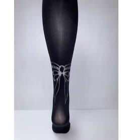 Memoi Memoi Girls Bow Back Printed Fashion Tights MKF-4020