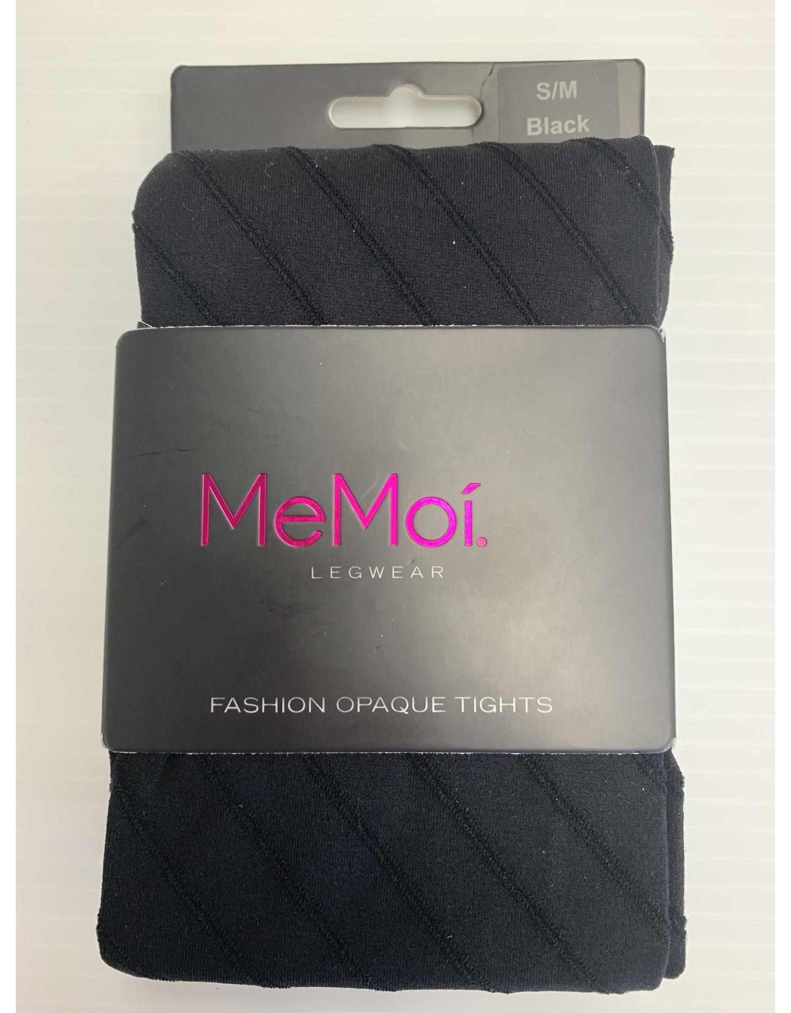Memoi Memoi Women's Spiral Opaque Fashion Tights MO-320