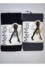 Memoi Memoi Women's Twin Rib Opaque Fashion Tights MO-124