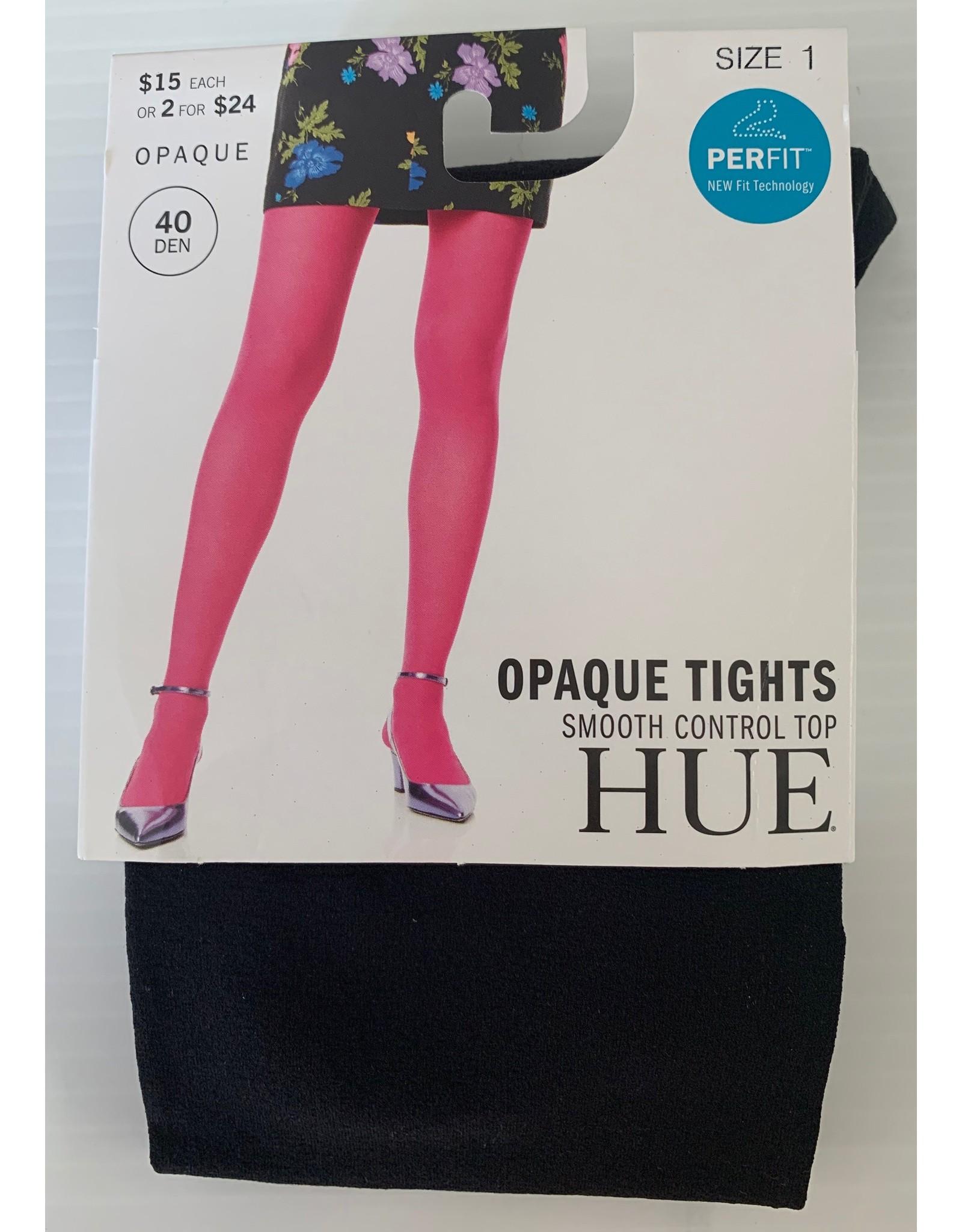 Hue Hue 40 Denier Opaque Tights Smooth Control TOP U4690