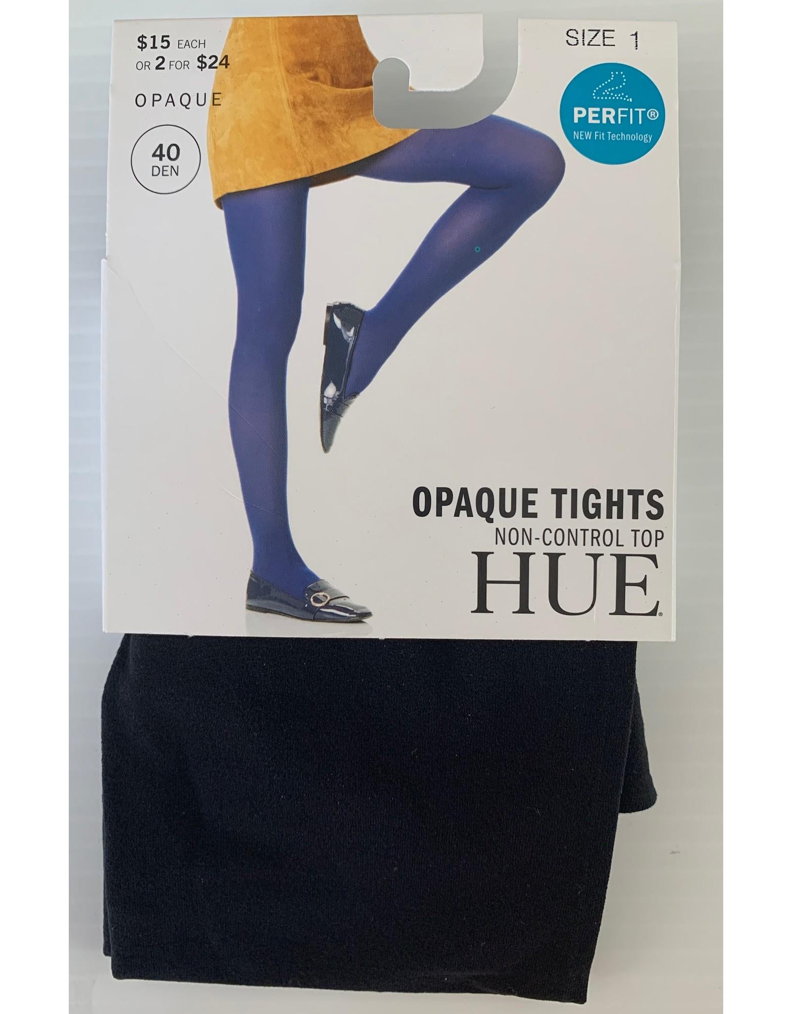 Hue Hue 40 Denier Opaque Tights Non-Control Top U4689