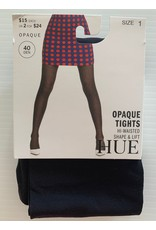 Hue Hue 40 Denier Opaque Tights Hi-Waisted Shape and Lift U21324