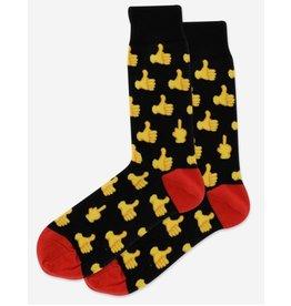 Hotsox Hotsox Men's Thumbs Up Crew Socks HSM10067