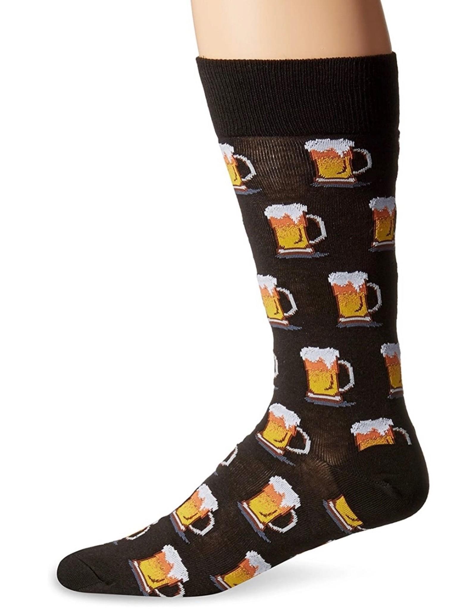 Hotsox Hotsox Men's Beer Crew Socks HM100506